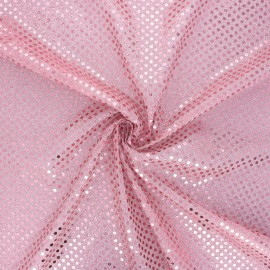Tissu paillettes Carnaval - rose x 10cm