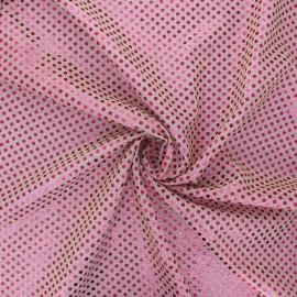Tissu paillettes Carnaval - fuchsia/lilas x 10cm