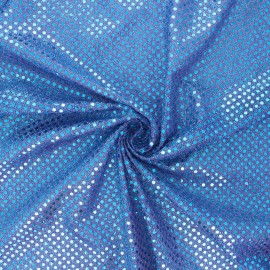 Tissu paillettes Carnaval - turquoise/violet x 10cm