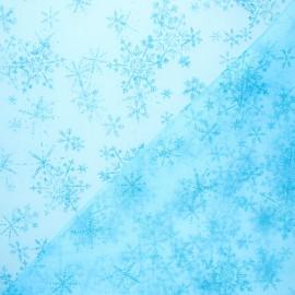 Organza fabric - blue Snow queen x 10cm