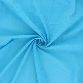 Tulle élasthanne pailleté - bleu x 10cm