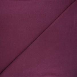 Tissu jersey tubulaire uni - figue x 10cm