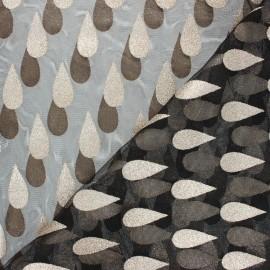 Glitter tulle fabric - black Drop x 10cm