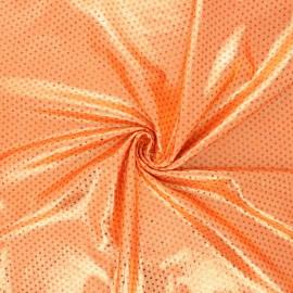 Tissu lycra métallisé Super trouper - orange x 10cm