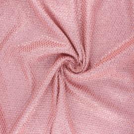 Tissu polyester pailleté Disco scale - rose x 10cm