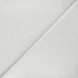 Tissu toile coton chambray - gris perle x 10cm