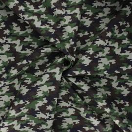 Tissu coton popeline Camy - kaki x 10cm
