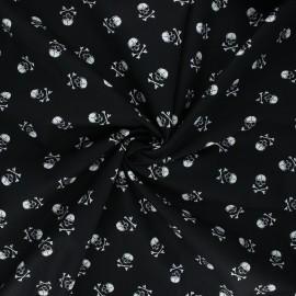 Tissu coton popeline Little skully - noir x 10cm