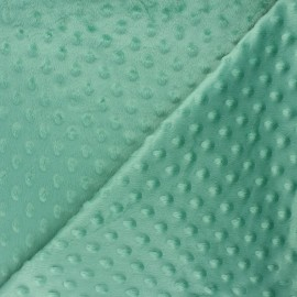 Dotted minkee velvet fabric - mint green Eva x 10cm