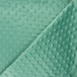 Tissu velours minkee doux relief à pois Eva - menthe x 10cm