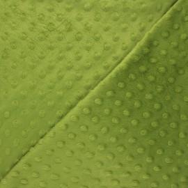 Dotted minkee velvet fabric - avocado Eva x 10cm
