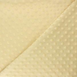 Tissu velours minkee doux relief à pois Eva - jaune paille x 10cm