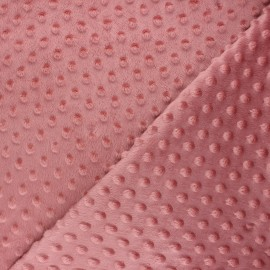 Dotted minkee velvet fabric - rose wood Eva x 10cm