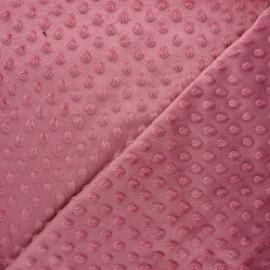 Dotted minkee velvet fabric - old pink Eva x 10cm