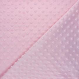 Dotted minkee velvet fabric - baby pink Eva x 10cm