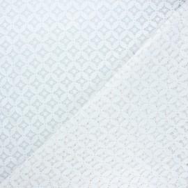 Lace fabric - white Flore x 10cm