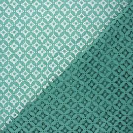 Lace fabric - eucalyptus green Flore x 10cm
