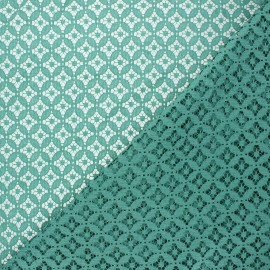 Tissu dentelle Flore - eucalyptus x 10cm