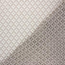 Lace fabric - greige Flore x 10cm