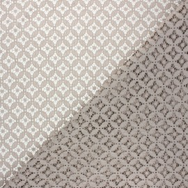 Tissu dentelle Flore - grège x 10cm