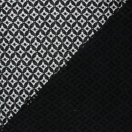Lace fabric - black Flore x 10cm
