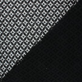 Tissu dentelle Flore - noir x 10cm