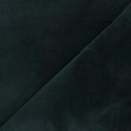 Tissu doudou Sweety - vert pin x 10 cm