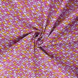 Poplin cotton fabric - pink Palma x 10cm