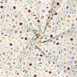 Tissu coton popeline Lisbug - blanc cassé x 10cm
