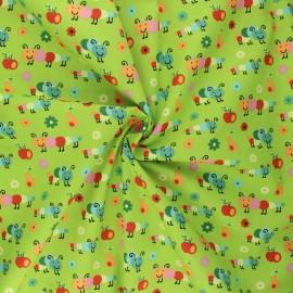 Poplin cotton fabric - lime Happy Timmy x 10cm