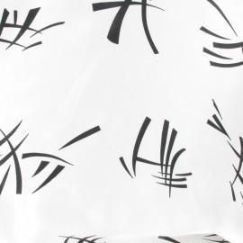 Tissu Signes asiatiques blanc x 10cm