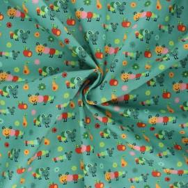 Tissu coton popeline Happy Timmy - eucalyptus x 10cm