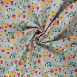 Poplin cotton fabric - grey Happy Timmy x 10cm