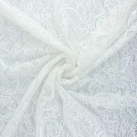 Elastane lace fabric - white Annie x 10cm