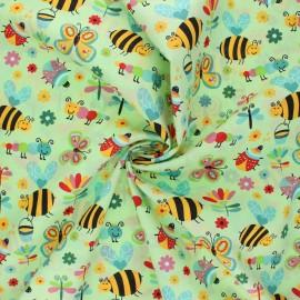 Tissu coton popeline Garden life - anis x 10cm