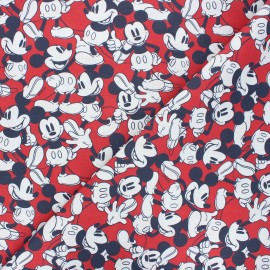 Cretonne cotton fabric - red Mickey fantasia  x 10 cm