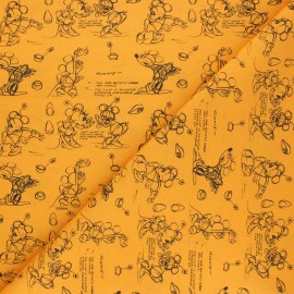 Cretonne cotton fabric - honey Minnie animation x 10 cm