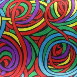 Tissu Années 70's rouge x 10cm