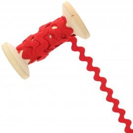 12 mm Rick Rack Trim Roll - Red Poppy