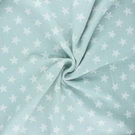 Tissu double gaze de coton Drawn star - opaline x 10cm