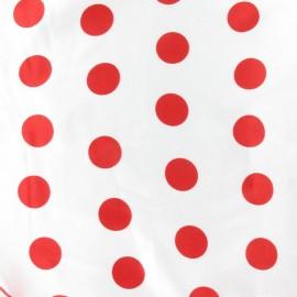 Tissu Flamenco Dots blanc/rouge x 10cm