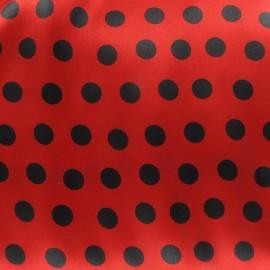 Tissu Flamenco Mini Dots rouge/noir x 10cm