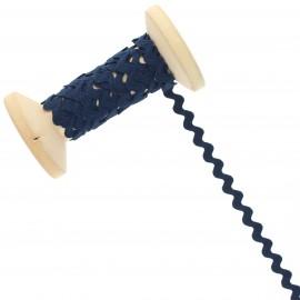 8 mm Rick Rack Trim Roll - Navy Blue