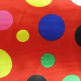 Tissu Big Dots Party rouge x 10cm