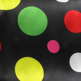 Tissu Big Dots Party noir x 10cm