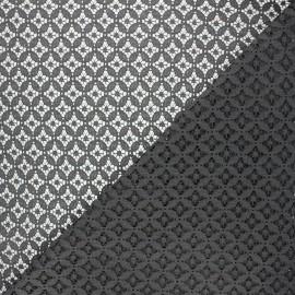Tissu dentelle Flore - gris foncé x 10cm
