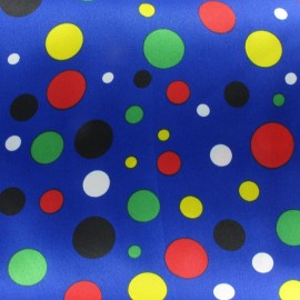 Tissu Dots Party bleu x 10cm