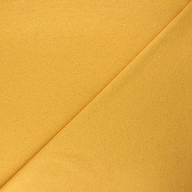 Recycled french terry fabric - mustard yellow x 10cm