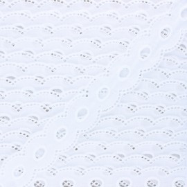 Broderie anglaise Marcelle 35 mm - blanc x 1m