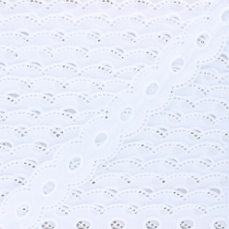 35 mm english embroidery - white Marcelle x 1m
